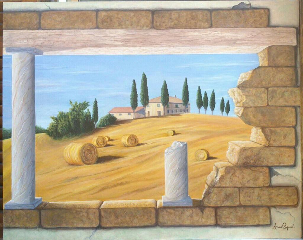 Estate toscana - Acrilico su legno 100x80