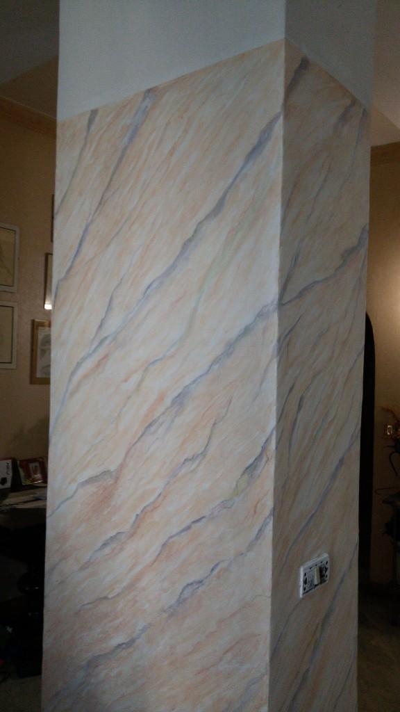 Pilastro effetto marmo - in lavorazione