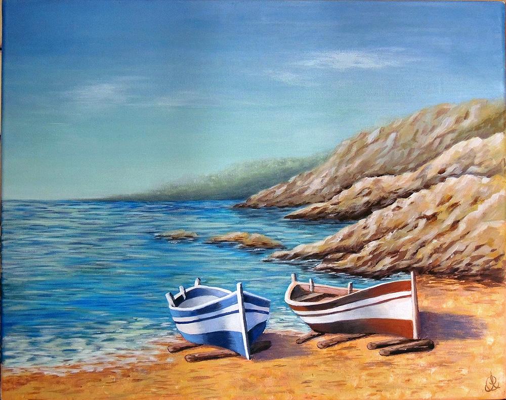 Barche - Acrilico su tela 40x50