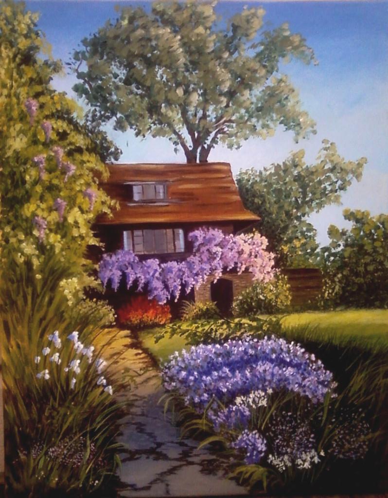 Casa francese - Acrilico su tela 40x50