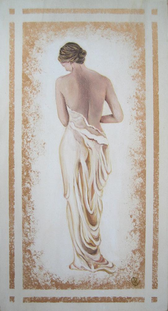 Pudore - Acrilico su tavola 25×55