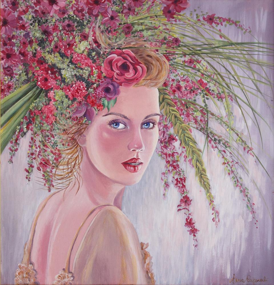 Donna Primavera - Acrilico su tela 50x50 (marzo 2013)
