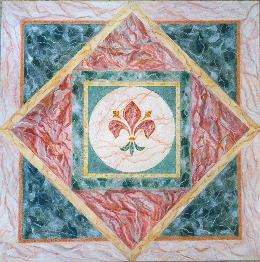 Effetto marmo - Acrilico su legno 60x60
