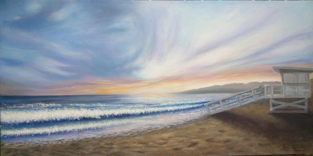 Santa Monica - Acrilico su tela 100x50