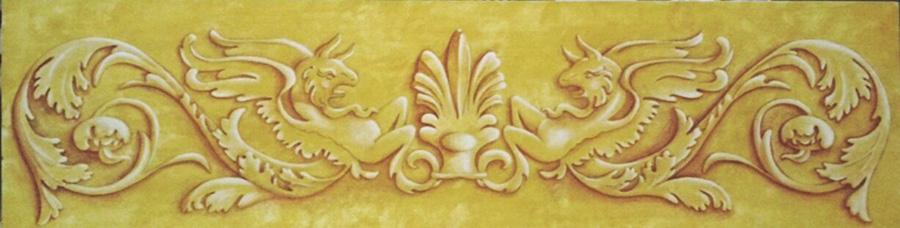 Effetto bassorilievo - Acrilico su legno 25x90