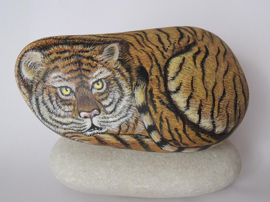 Tigre – Acrilico su sasso