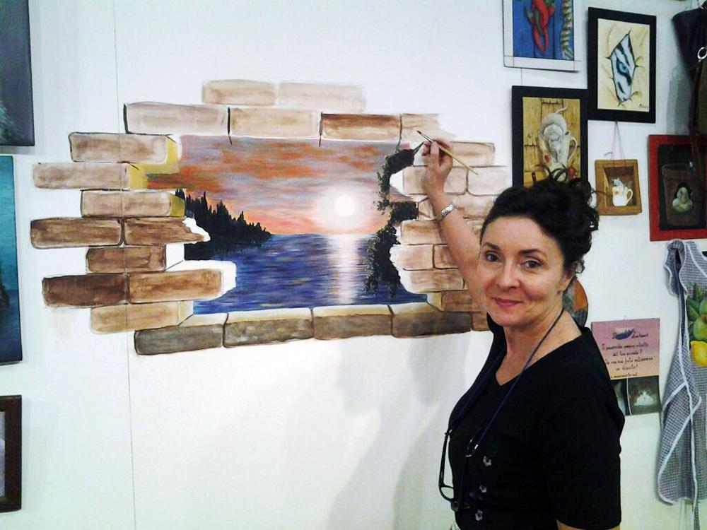 Anna all'Hobby Show – Trompe l'oeil Marzo 2013